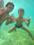 Diving Bajau Kids, Derawan Island,Kalimantan