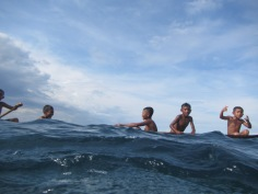 Bajau children, Kamaru, Buton, Indonesia