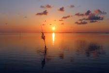 Sunset in Sampela, Wakatobi, Sulawesi, Indonesia