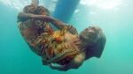 Lola Maria dives for coins 74 yearsold