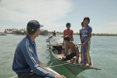 Boat Living Sama Dilaut at Omadal Island, Semporna, Malaysia