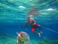Sama Dilaut Fisherman With Barracuda Catch, Sampela, Indonesia 2