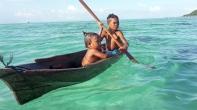 Bajau Laut Children outside of Bodgaya Semporna Malaysia