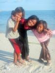 Bajau Laut Girls on Maiga, Semporna,Malaysia