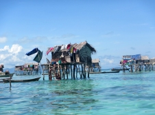 Bajau Laut Stilt Houses outside of Bodgaya, Semporna, Malaysia